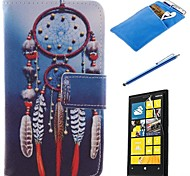 Dreamcatcher Design PU Leather Full Body Case with Stylus、Protective Film and Soft Pouch for Nokia Lumia N630