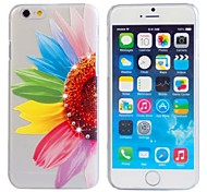Mixed Color DIY Beautiful Relief Pattern Plastic Matte Hard Cover with Diamond Look for iPhone 6