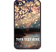 Personalized Phone Case - Romance Design Metal Case for iPhone 4/4S