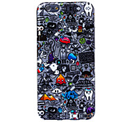 Crasy Rubbish Pattern Silicone Soft Case for iPhone 6