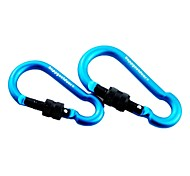 7/8mm Pear Carabiner With Screw Lock Snap Hook Keychain Quick Release 2pcs Set (Random Color)