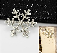 1PCS Embedded Snowflake 3.8cm Alloy Accessories Embedded Rhinestone Handmade DIY Craft Material