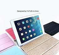 fuusii® soie naturelle et à l'arrière TPU cas de couverture pour l'ipad 6 / air 2 (couleurs assorties)
