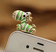 muy lindo caballo 3.5mm goteos tapón anti-polvo para el iphone (colores surtidos)