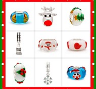 9 Style Christmas Charm Beads for Christmas Gift