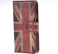Retro Union Jack PU Leather Case Cover with Stand and Card Slot for Samsung Galaxy A5