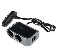 WF-069 12V-24V 2.1A 1-to-2 Car Cigarette Lighter Socket Power Adapter with Dual USB Output