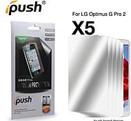 protetor de alta transparência espelho lcd tela para LG-optimus-g-pro-2 (5 peças)