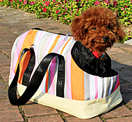 Portable Stripe Pet Handbag With Many Pockets for Pet Dogs and Cats