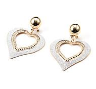 Fashion Hollow Heart Dull Polish Golden Alloy Drop Earrings(1 Pair)