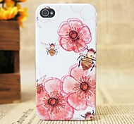 Beautiful Pink Flowers Pattern Hard Cover Case for iPhone 4/4S