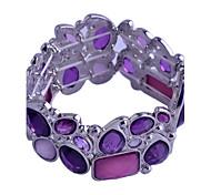 Korean Silicone Rple Crystal Elastic Bracelet