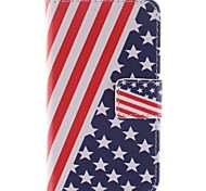 The American Flag Design PU Leather Full Body Case with Stand and Card Slot for Sony Xperia E1