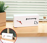 placa diy analógica criativa mensagem de limpeza com o relógio caneta alarme abs (branco, 1 * AA)