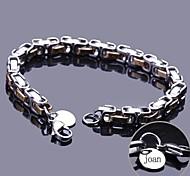 персональный подарок цепь браслет из нержавеющей стали выгравировано ювелирных изделий