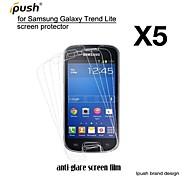 protetor de alta transparência fosco lcd de tela para Samsung Lite tendência galáxia s7390 (5 peças)