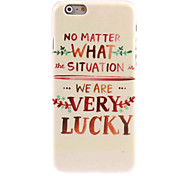 Very Lucky Design Hard Case for iPhone 6 Plus