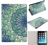 Ultra-Thin Voltage Luminous Blue Lotus PU Leather Full Body Case with Stand for iPad mini 1/2/3