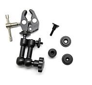 "POPLAR Adjustable 7"" Metal Magic Arm and Aluminum Alloy Mount Clamp for Camera"