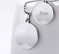 Personalized Gift Stainless Steel Pendent  Necklace Engraved Jewelry