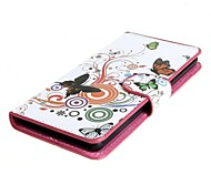 Vivid Butterfly Circle PU Leather Case Cover with Stand and Card Slot for Sony Xperia E3 D2203 D2206