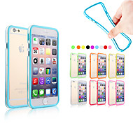 XUNDD High Quality Silicone Protective Bumper Frame Soft Case for iPhone 6s 6 Plus