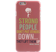 Strong People Design Hard Case for iPhone 6 Plus