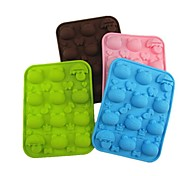12 Hole Frog Umbrella Shape Cake Ice Jelly Chocolate Molds