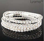 Lureme Simple Row Crystals Elastic Bracelet