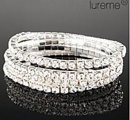 Lureme Simple Row Crystals Elastic Bracelet Jewelry