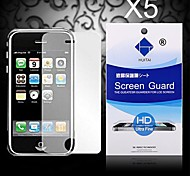 HD Screen Protector with Dust-Absorber for iPhone 3/3GS (5 PCS)