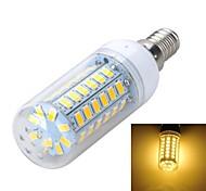 marsing® e14 10w 900lm 56 x 5730 SMD llevó la lámpara caliente fría / blanco bulbo del maíz de luz - (ac 220v)