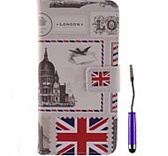 British Envelope Pattern PU Leather Full Body Case with Touch Pen for Motorola G2
