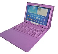 Silicone Bluetooth Keyboard Built-in Leather Case for Samsung Galaxy Tab 4 10.1 T530(Assorted colors)