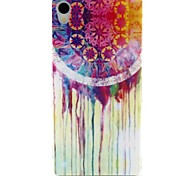 Campanula Pattern TPU Soft Cover for Sony Xperia Z3