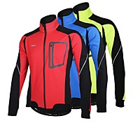 ARSUXEO Cycling Jacket Men's BikeBreathable / Anatomic Design / Windproof / Thermal / Warm / Reflective Strips / Back Pocket / Reflective