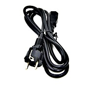 Universal EU Plug AC Power Cable for PC / Laptop - Black (1.5m)