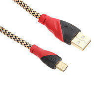 150CM Micro USB Charge Sync Cable for SAM/HTC/NOK/MOT/B.B