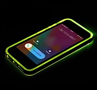New TPU LED Reminder Flash Transparent Back  Cover Case for iPhone 4/4S (Assorted color)