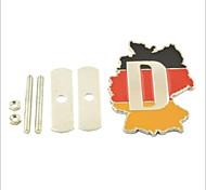 3d alemania bandera nacional del estilo de decoración parrilla emblema para tuning