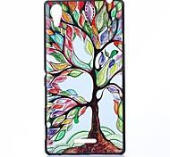 árbol colorido patrón pc caso duro para sony xperia t3
