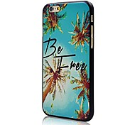 """Doopootoo™ Coconut Trees Be Free Painted Pattern Slim Plastic Back Hard Case Cover For iPhone 6 4.7"""""""