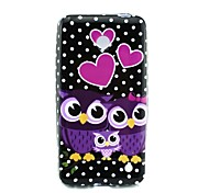 Love Owl Pattern TPU Solf Cover for Nokia Lumia 630/635