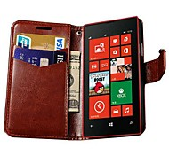 Retro PU Leather Wallet Case for Nokia 520 (Assorted Colors)