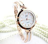 Mulheres Relógio Elegante Relógio de Moda Bracele Relógio Quartzo imitação de diamante Lega Banda Bracelete Prata Dourada Prata Dourado