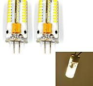 G4 3W 63 SMD 3014 250 LM Warm wit 2-pins LED-lampen V