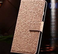 3D Relief Lavender Pattern Full Body with Wallet Stand PU Leather Case for iPhone 6 (Assorted Colors)