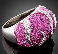 YUAN Fashion Casual High Quality Rhinestone Ring