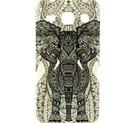 patrón elefante TPU suave para la tendencia galaxia 3 g3502u