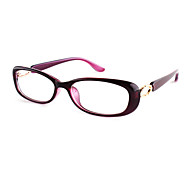 [Free Lenses] Women's PC Rectangle Full-Rim Fashion Prescription Eyeglasses